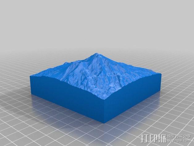 雪士达山  3D模型  图2