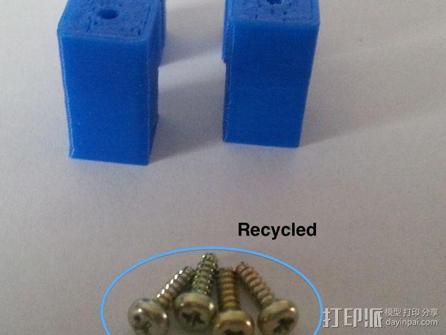 激光雕刻机 塑料零部件 3D模型  图3
