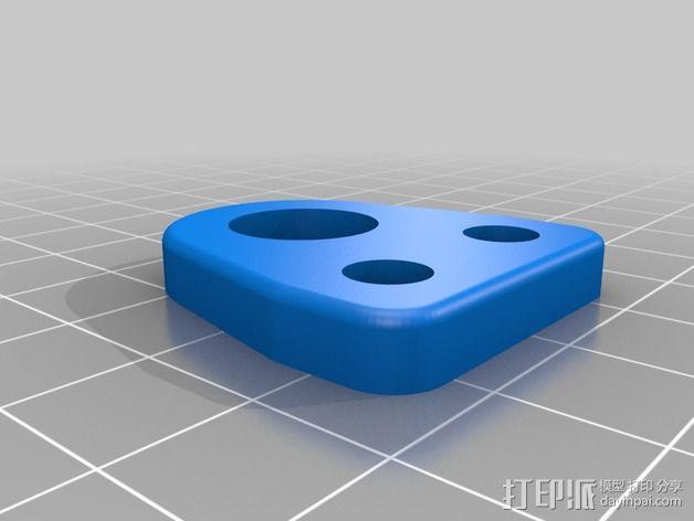 Openbeam承轴边角架 3D模型  图2