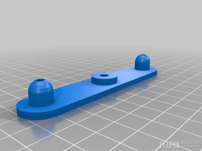 Multiplex Twinstar II遥控飞机 翼肘板 3D模型  图2