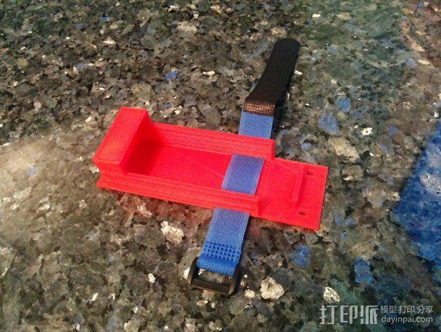 电池支座 3D模型  图1