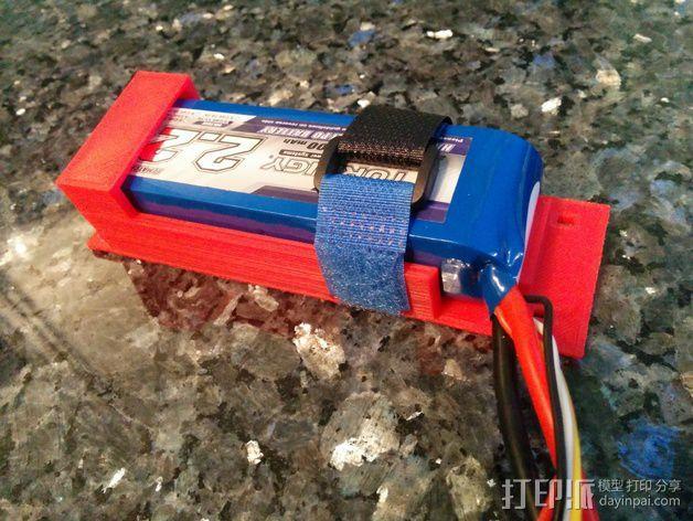 电池支座 3D模型  图3