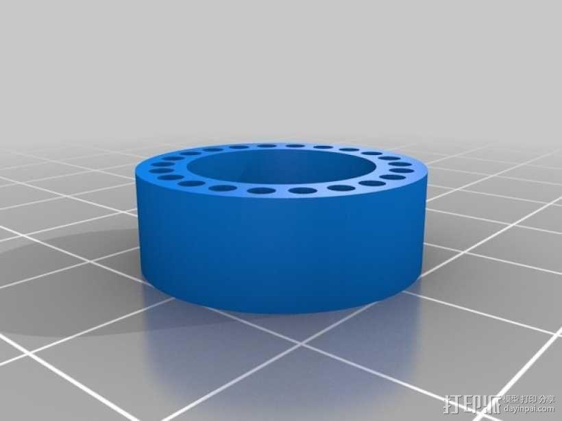 参数型管插座 3D模型  图1