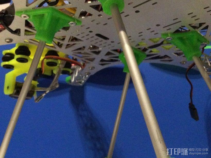 多轴飞行器 起落架 3D模型  图1