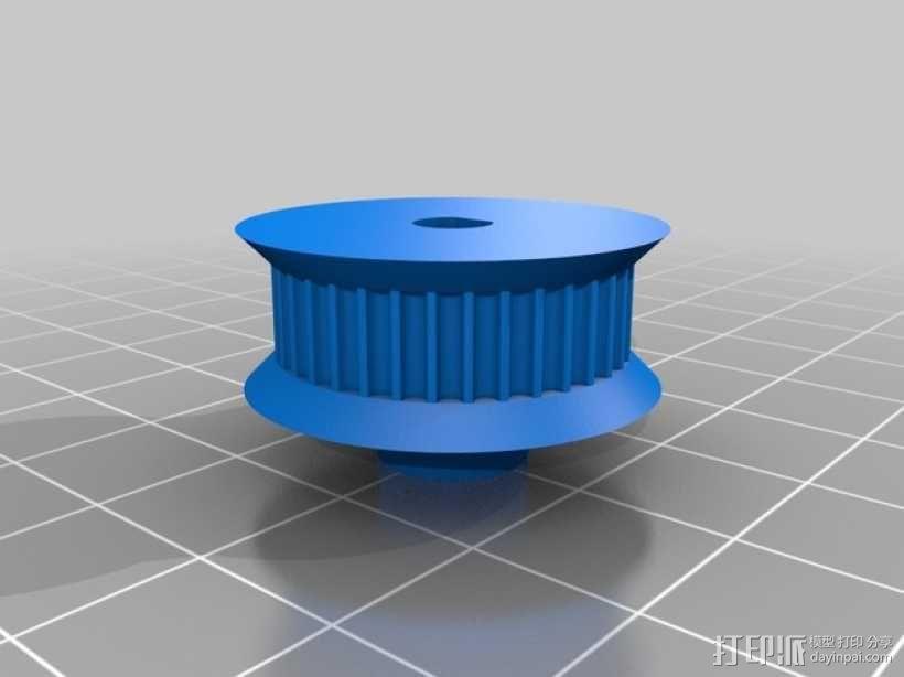 同步带轮  3D模型  图1