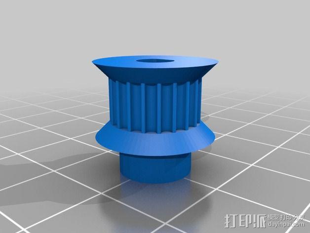 同步带轮  3D模型  图2
