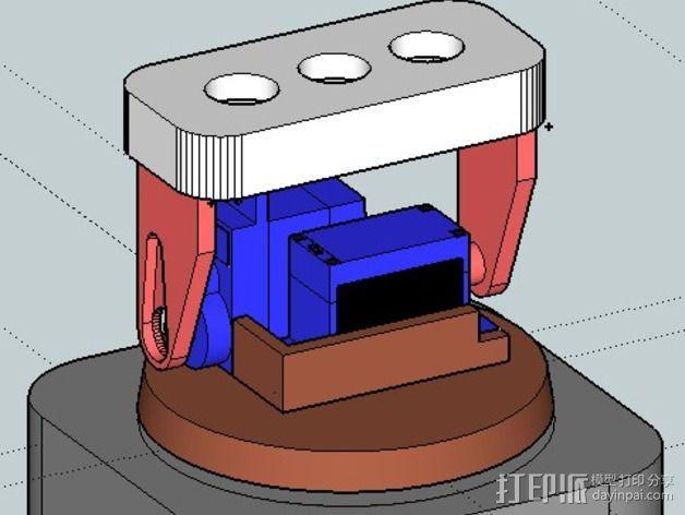 迷你LED摇头灯 3D模型  图3