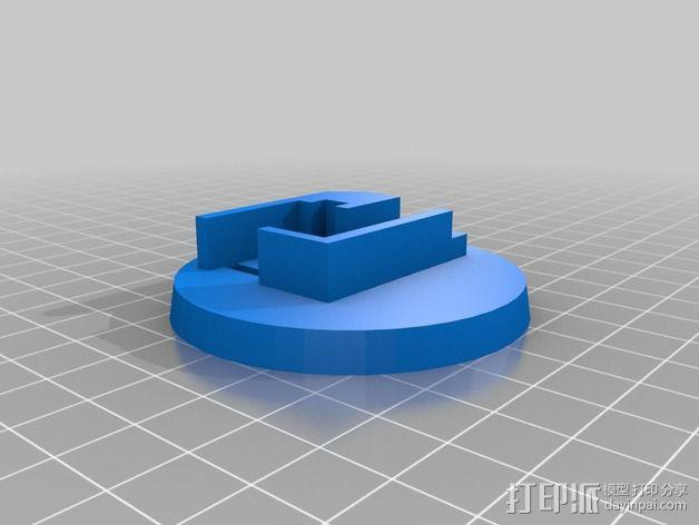 迷你LED摇头灯 3D模型  图11