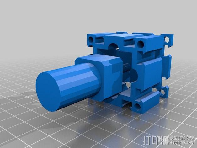 致动器支架 3D模型  图2