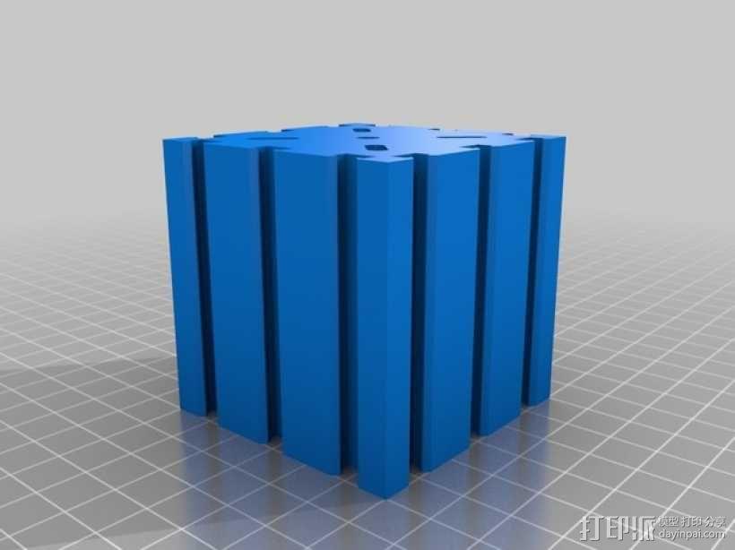 致动器支架 3D模型  图1