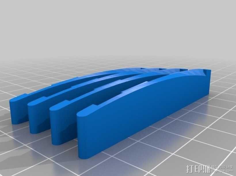 原声吉他 琴桥 3D模型  图1