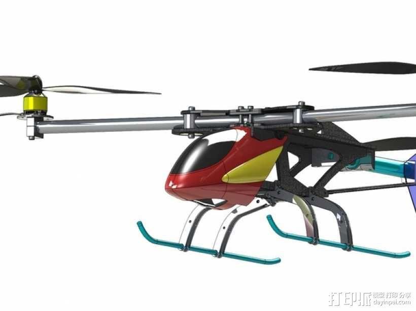 三轴飞行器 3D模型  图1