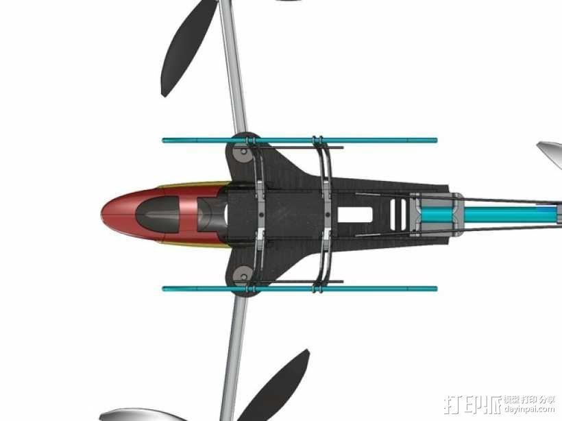 三轴飞行器 3D模型  图27