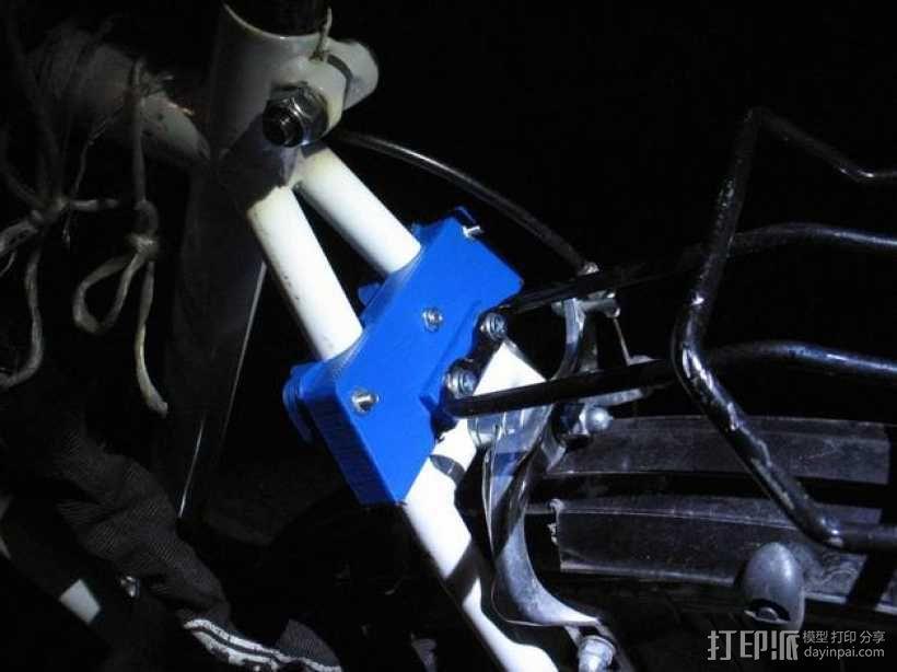 自行车行李架配适器 3D模型  图1