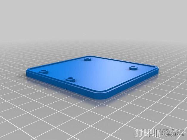 LED发光板外壳 3D模型  图4