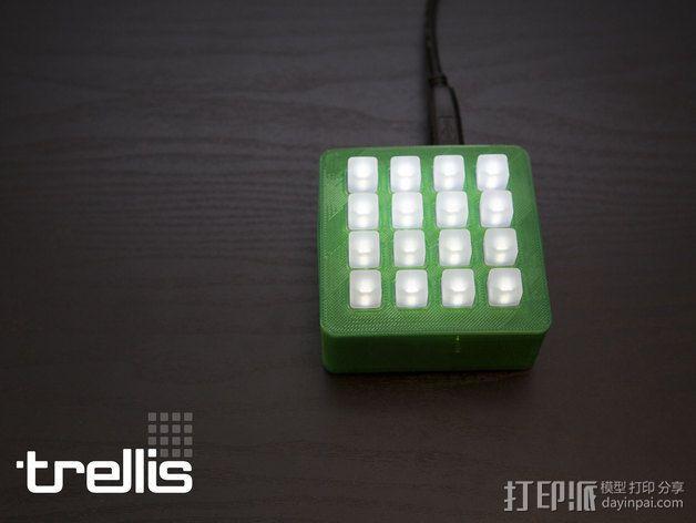 LED发光板外壳 3D模型  图1
