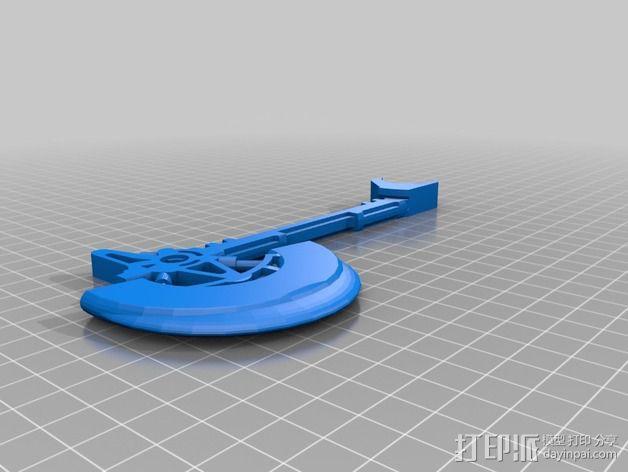 战斧 支架 3D模型  图2