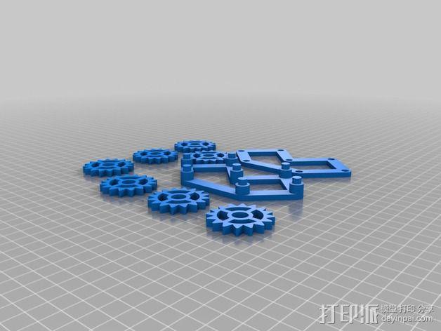 齿轮装置 3D模型  图2