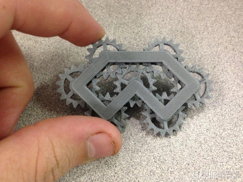 齿轮装置 3D模型  图1