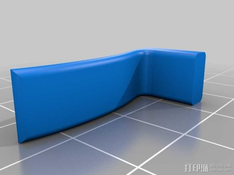 高尔夫球叉 3D模型  图4
