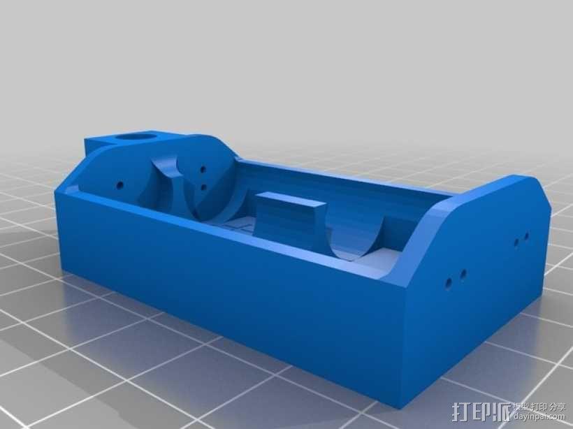 双节AA电池底座 3D模型  图1