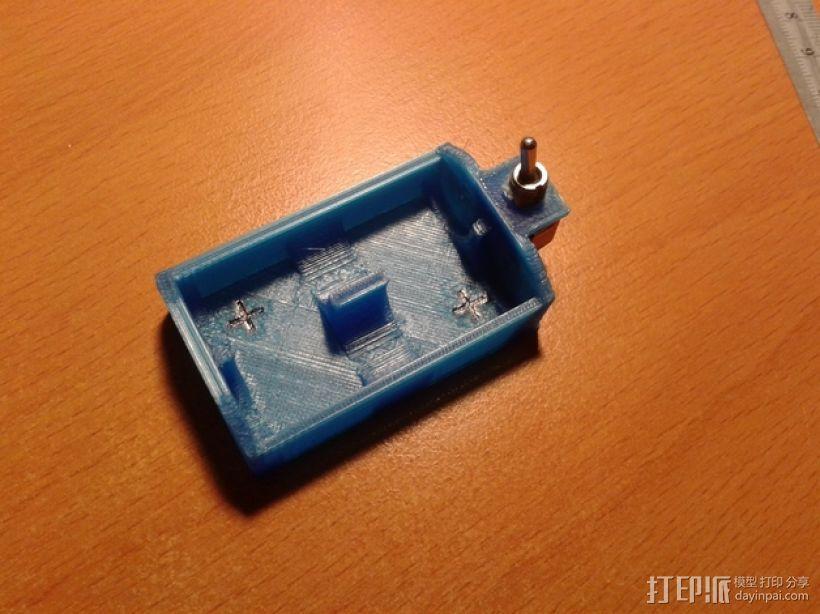 双节AA电池底座 3D模型  图2