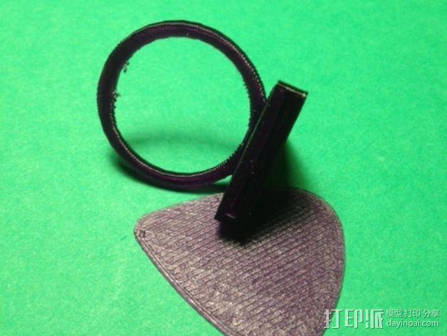 吉他拨片 指环 3D模型  图4