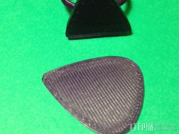 吉他拨片 指环 3D模型  图5