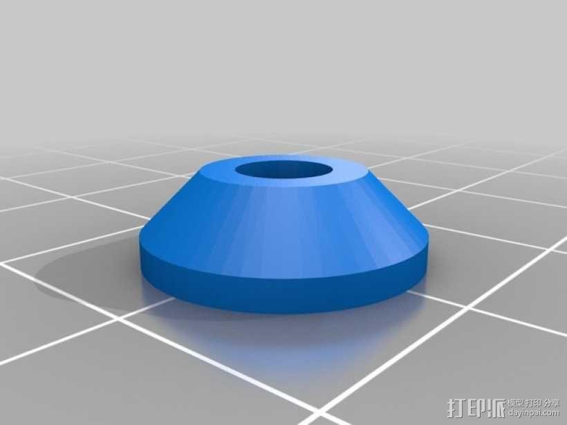 弹簧盖 3D模型  图2