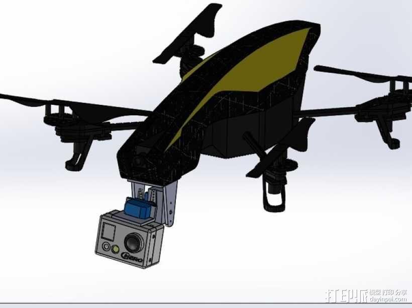 无人机 相机常平架 3D模型  图1