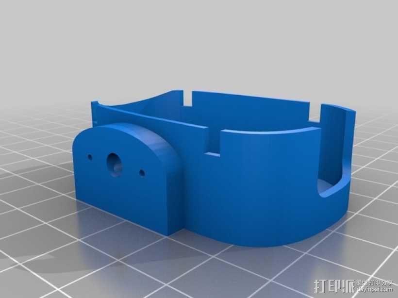 无人机 单轴相机常平架 3D模型  图2