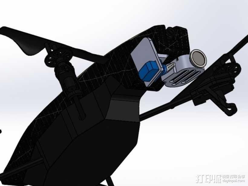 无人机 单轴相机常平架 3D模型  图3
