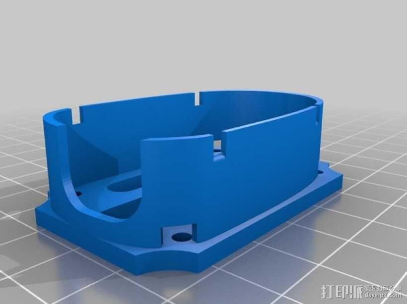 无人机 防振相机支架 3D模型  图2