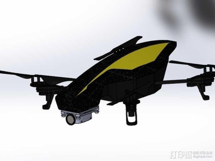 无人机 防振相机支架 3D模型  图1