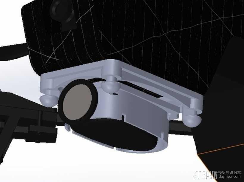 无人机 防振相机支架 3D模型  图4