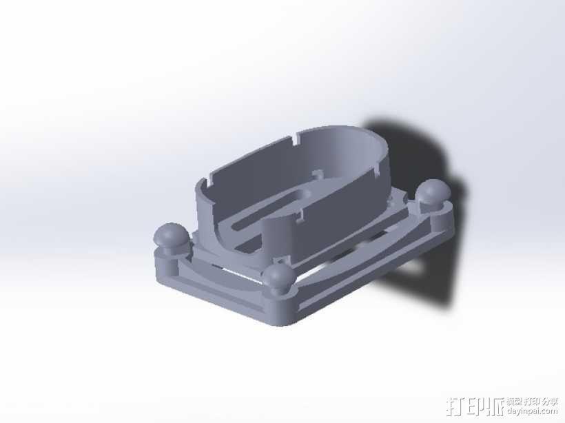 无人机 防振相机支架 3D模型  图5