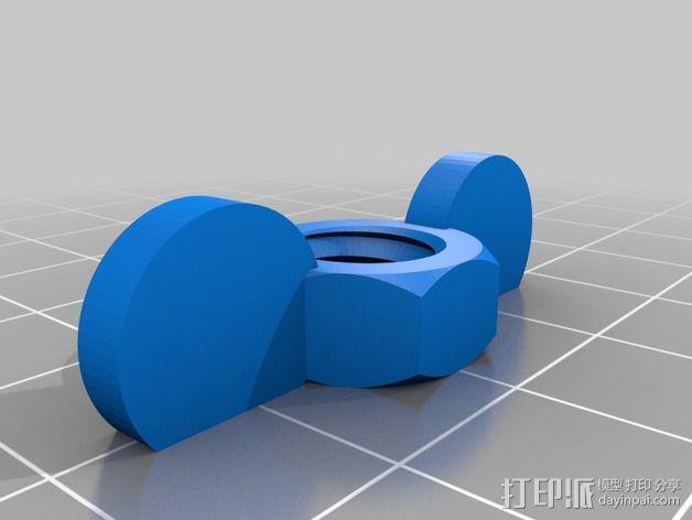 翼形螺帽  3D模型  图1