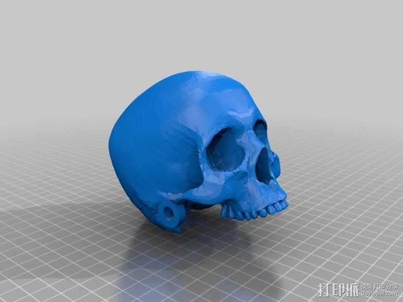 骷髅头 机器人 3D模型  图3