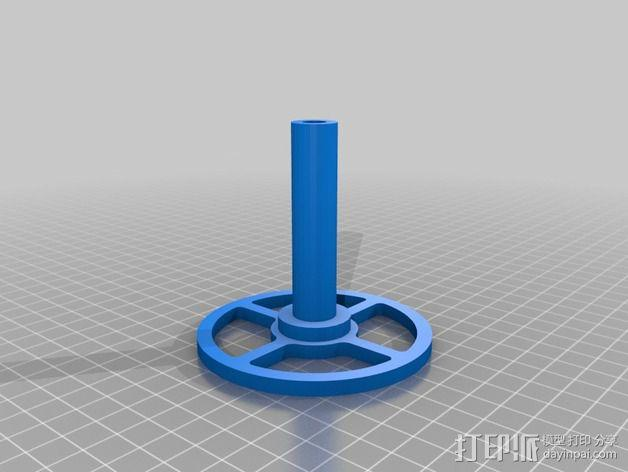 线轴  3D模型  图2