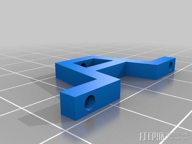 迷你伺服支架 3D模型  图2