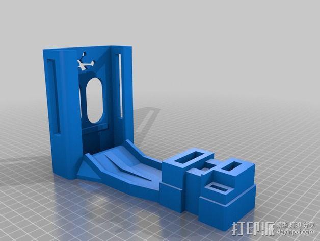 Ezuhf发射机支架 3D模型  图2