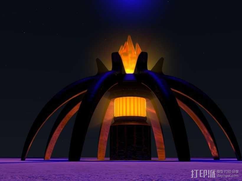星际之门 照明灯 3D模型  图1