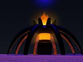 星际之门 照明灯 3D模型