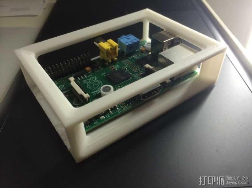 树莓派外壳框架 3D模型  图1