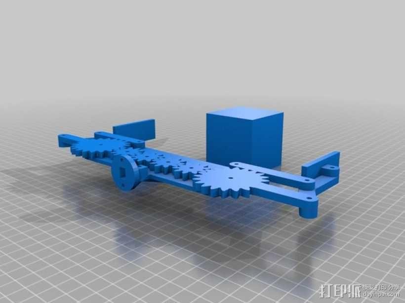 参数定制化机械爪 3D模型  图1