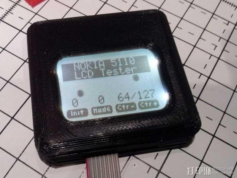 Nokia 5110 LCD显示屏外壳 3D模型  图1