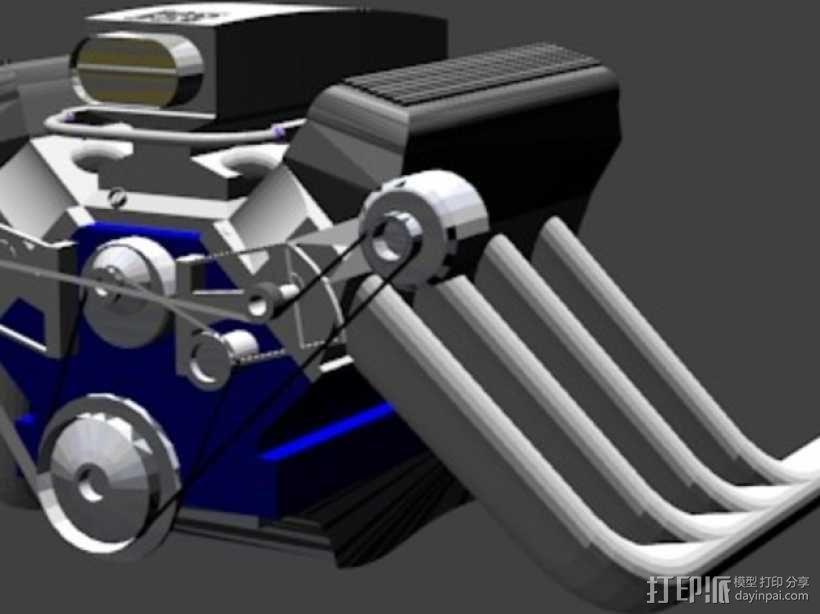302引擎 3D模型  图1