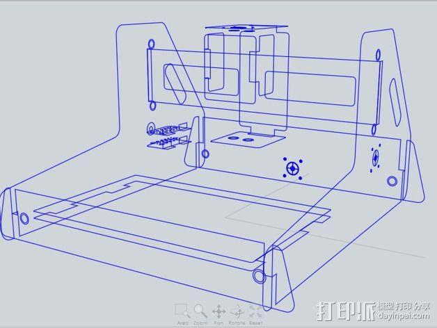 数控铣床 3D模型  图2