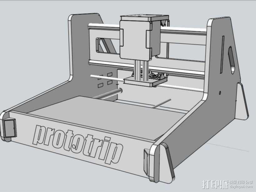 数控铣床 3D模型  图1