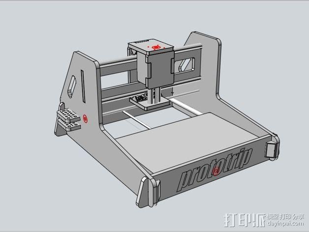数控铣床 3D模型  图3